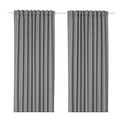 HANNALENA room darkening curtains, 1 pair, grey