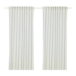 HANNALILL curtains, 1 pair, light green