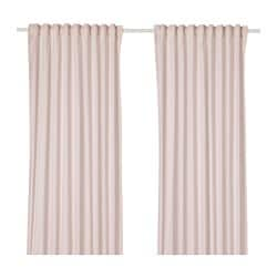 HANNALILL curtains, 1 pair, pink