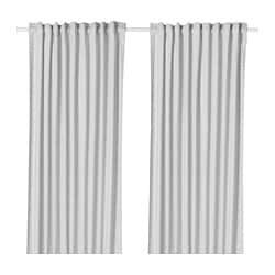 HANNALILL curtains, 1 pair, grey