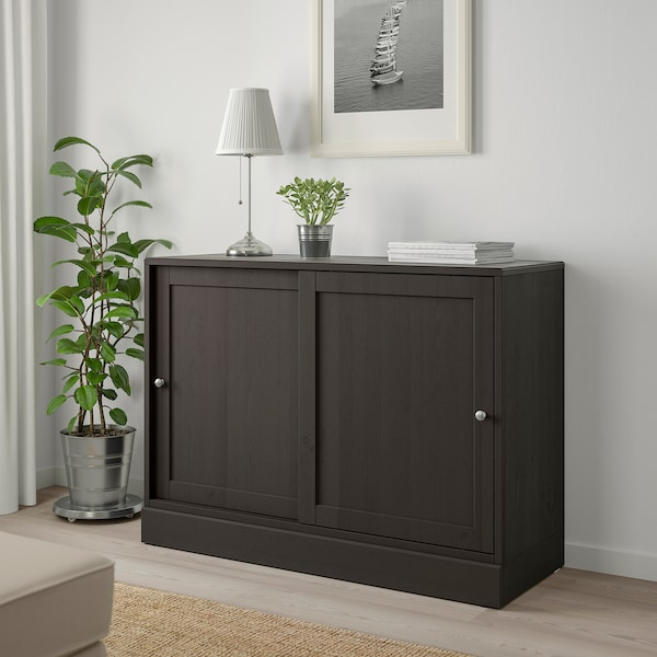 HAVSTA cabinet with plinth dark brown 121 cm 47 cm 89 cm 45 kg