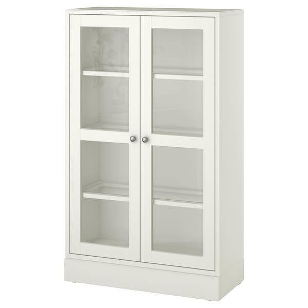 HAVSTA glass-door cabinet with plinth white clear glass 81 cm 37 cm 134 cm 23 kg