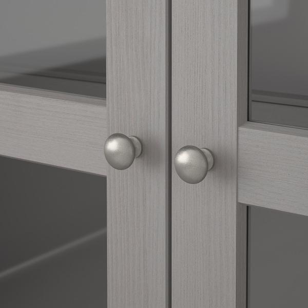HAVSTA glass-door cabinet with plinth grey/clear glass 81 cm 37 cm 134 cm 23 kg