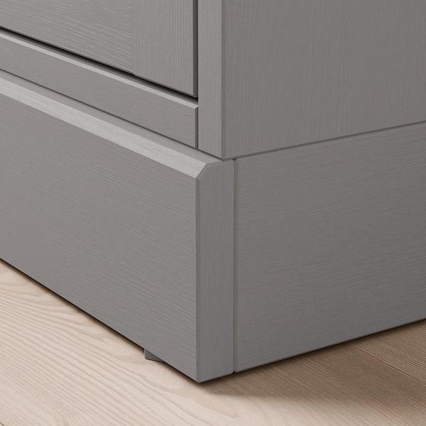 HAVSTA glass-door cabinet with plinth grey/clear glass 121 cm 37 cm 134 cm 32 kg