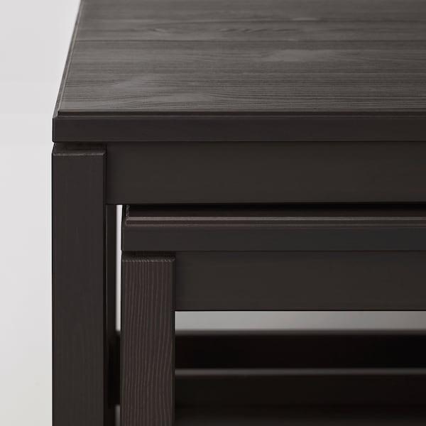 HAVSTA nest of tables, set of 2 dark brown