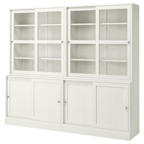 HAVSTA storage comb w sliding glass doors white 242 cm 47 cm 212 cm 32 kg