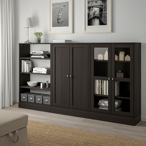 HAVSTA Storage combination w glass-doors IKEA Made of wood from sustainable sources.