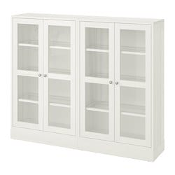 HAVSTA storage combination w glass doors, white