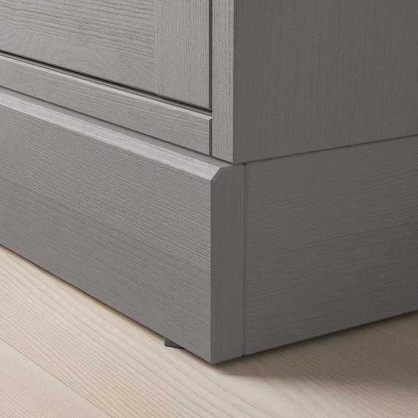 HAVSTA storage combination w glass-doors grey 243 cm 37 cm 134 cm 23 kg