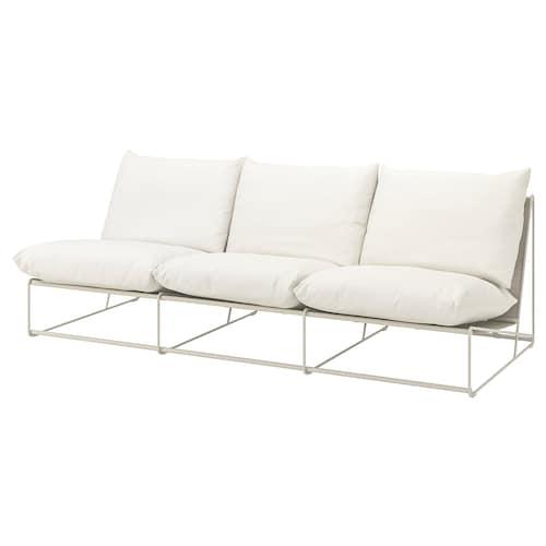 HAVSTEN 3-seat sofa, in/outdoor without armrests/beige 245 cm 94 cm 90 cm 62 cm 42 cm