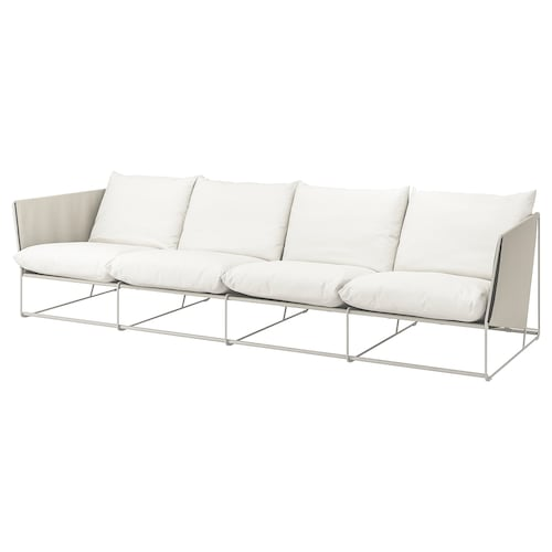 HAVSTEN 4-seat sofa, in/outdoor, beige, 341x94x90 cm