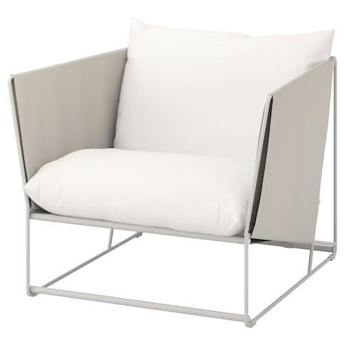 HAVSTEN armchair, in/outdoor beige 98 cm 94 cm 90 cm 62 cm 42 cm
