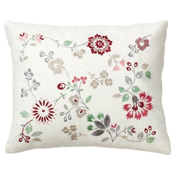 HEDBLOMSTER Cushion, multicolour, 50x60 cm