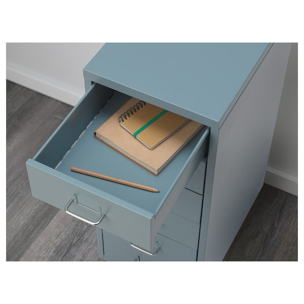 HELMER Drawer unit on castors, blue, 28x69 cm