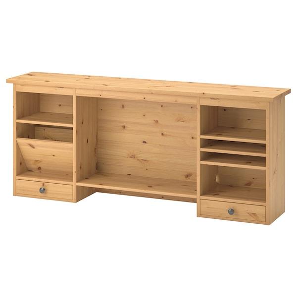 HEMNES add-on unit desk light brown 152 cm 25 cm 63 cm