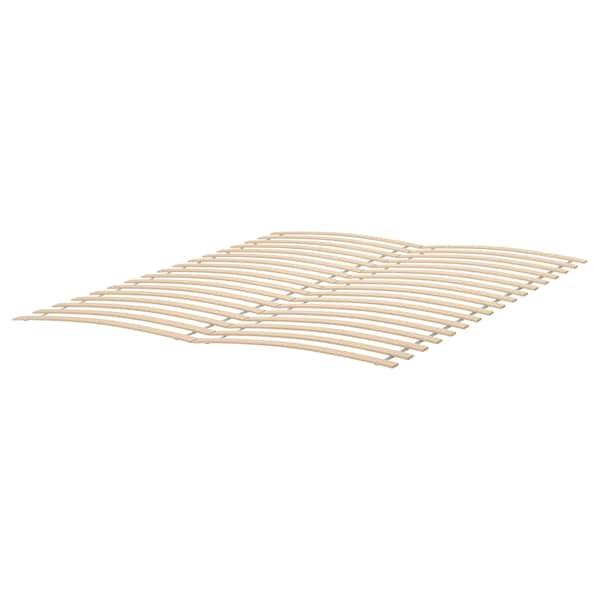 HEMNES Bed frame, black-brown/Luröy, 150x200 cm