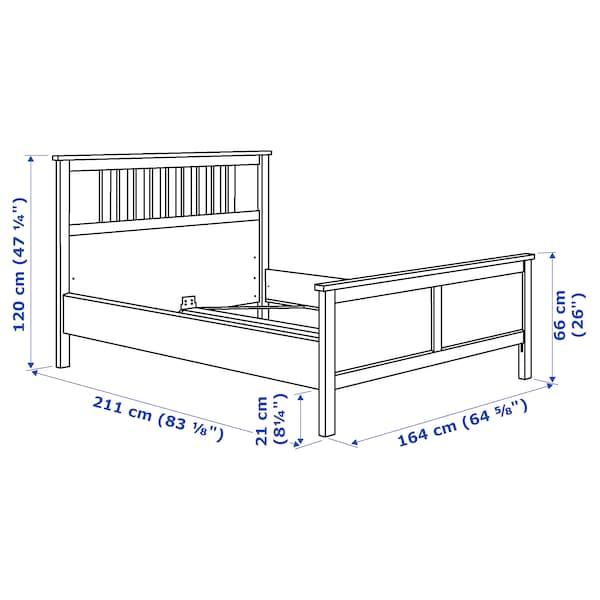 HEMNES bed frame white stain/Luröy 211 cm 167 cm 66 cm 120 cm 200 cm 150 cm