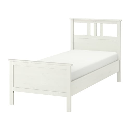 Ikea Bed 120x200.Hemnes Bed Frame 120x200 Cm White Stain Ikea