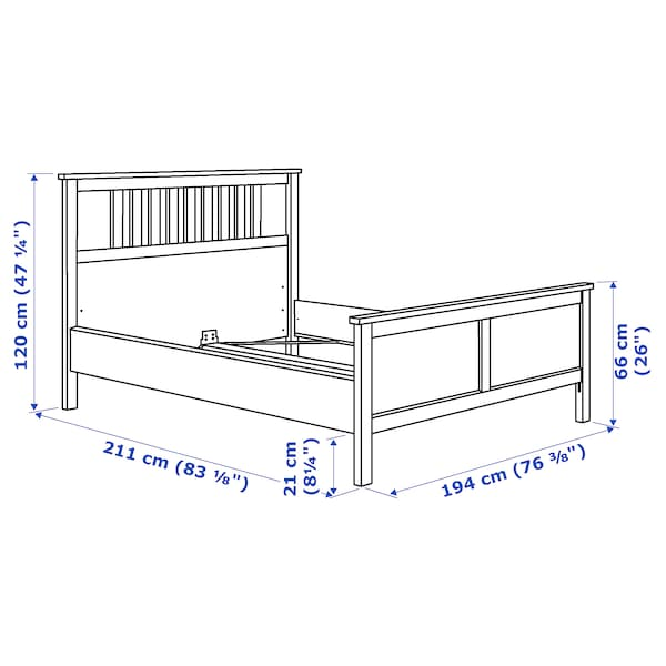 HEMNES bed frame black-brown 211 cm 194 cm 66 cm 120 cm 200 cm 180 cm