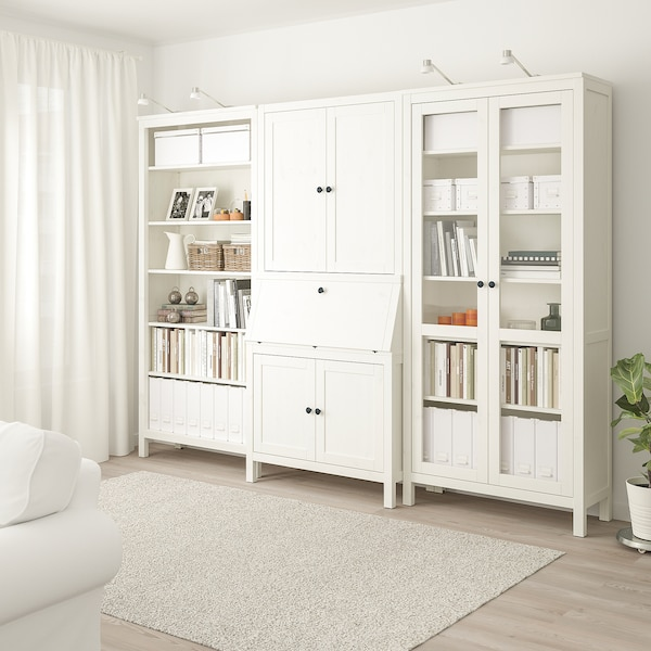 IKEA HEMNES Bureau with add-on-unit+bookcase