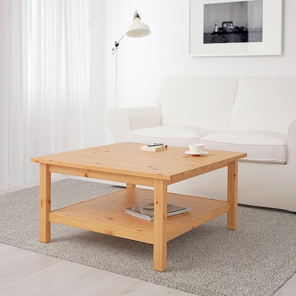 HEMNES coffee table light brown 90 cm 90 cm 46 cm