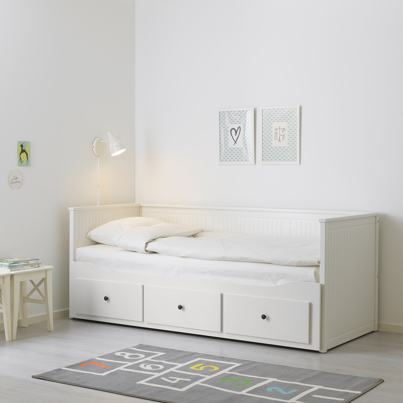 - HEMNES Day-bed Frame With 3 Drawers - White - IKEA