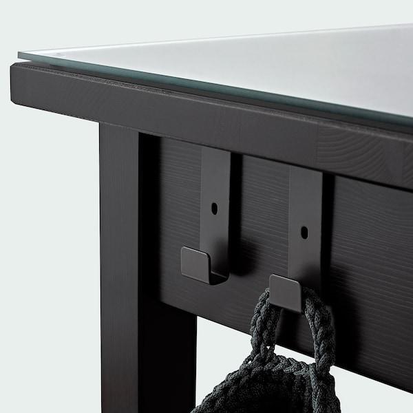 HEMNES dressing table with mirror black-brown 110 cm 45 cm 134 cm