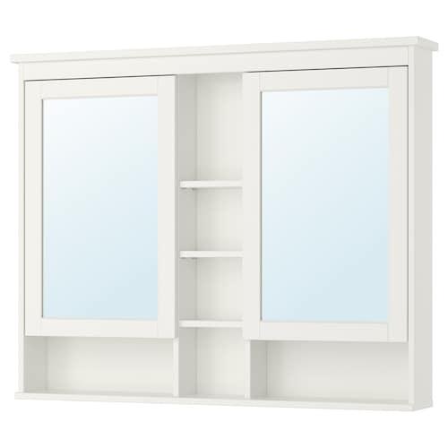 HEMNES mirror cabinet with 2 doors white 120 cm 16 cm 98 cm