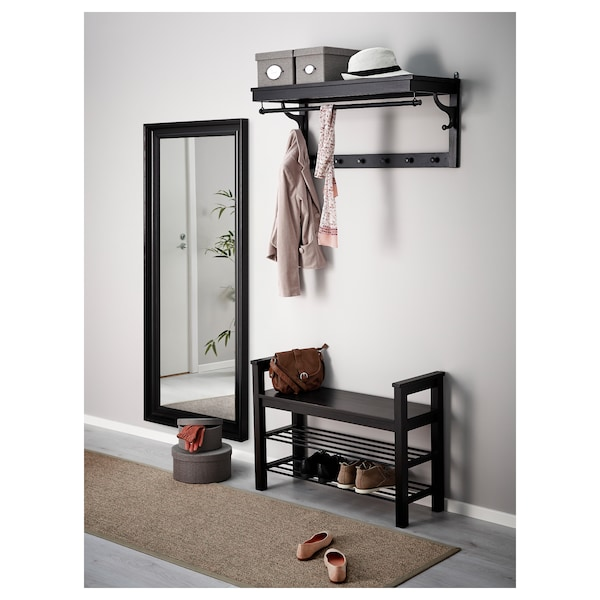 HEMNES mirror black-brown 74 cm 165 cm