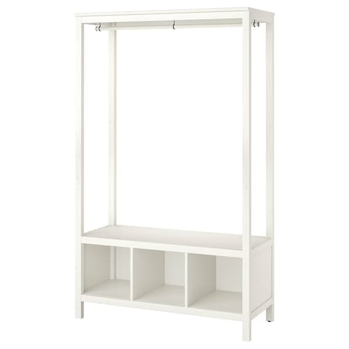 HEMNES open wardrobe white stained 120 cm 50 cm 197 cm