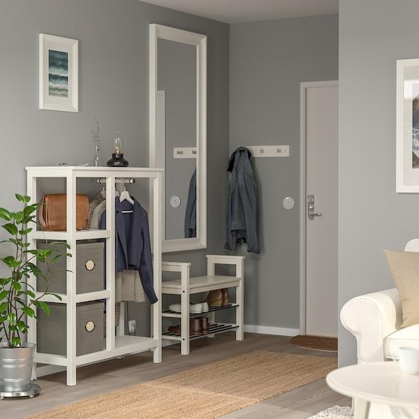 HEMNES open wardrobe white stained 99 cm 37 cm 130 cm