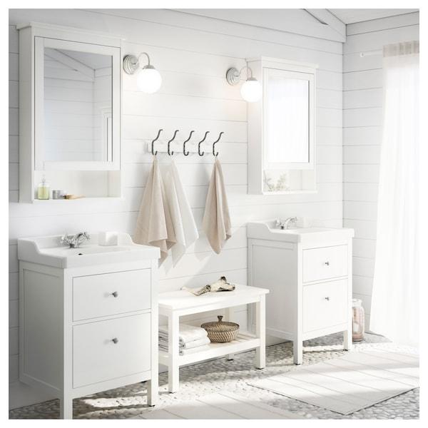 HEMNES / RÄTTVIKEN wash-stand with 2 drawers white/Runskär tap 62 cm 60 cm 49 cm 89 cm