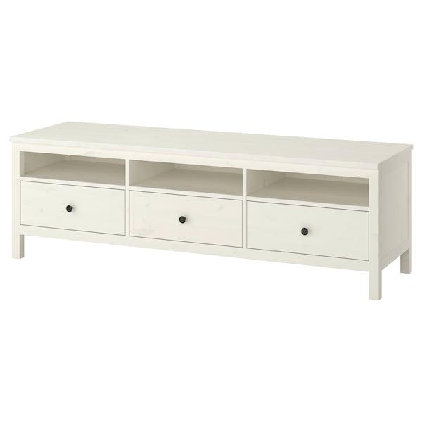 HEMNES TV bench, white stain, 183x47x57 cm