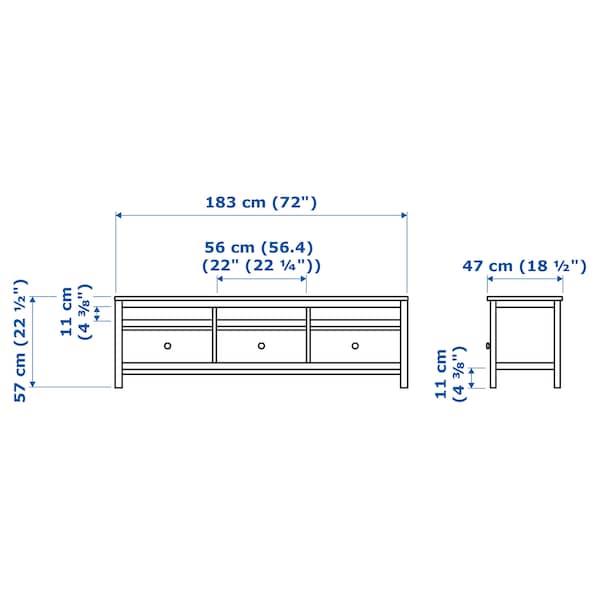 HEMNES TV bench light brown 183 cm 47 cm 57 cm 50 kg