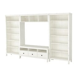 HEMNES TV storage combination, white stain