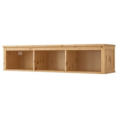 HEMNES Wall/bridging shelf, light brown, 148x37 cm
