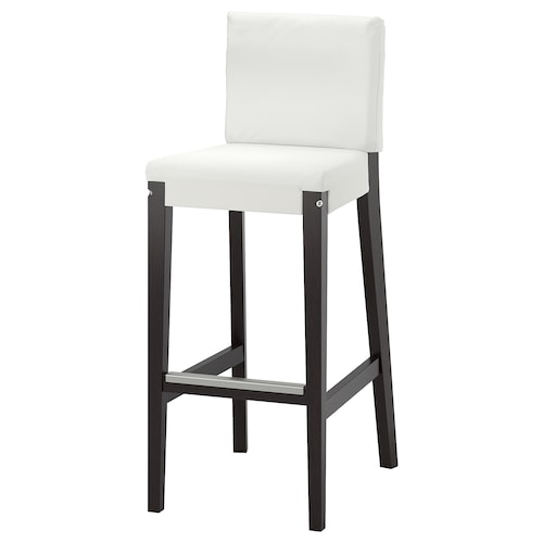 HENRIKSDAL bar stool with backrest frame dark brown 110 kg 40 cm 51 cm 104 cm 40 cm 38 cm 74 cm