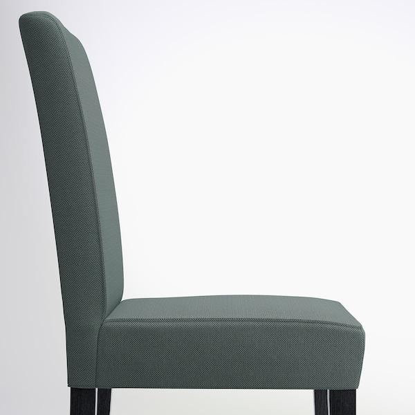HENRIKSDAL chair dark brown/Finnsta turquoise 110 kg 51 cm 58 cm 97 cm 51 cm 42 cm 47 cm