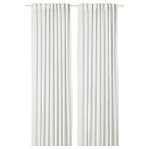 HILJA curtains, 1 pair white 250 cm 145 cm 0.92 kg 3.63 m² 2 pack