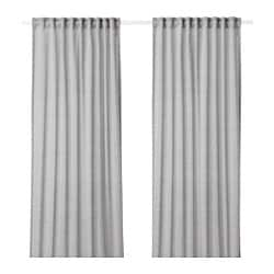HILJA curtains, 1 pair, grey