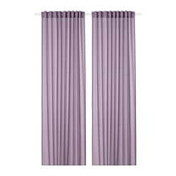 HILJA curtains, 1 pair, lilac