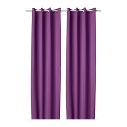 HILLEBORG block-out curtains, 1 pair, lilac