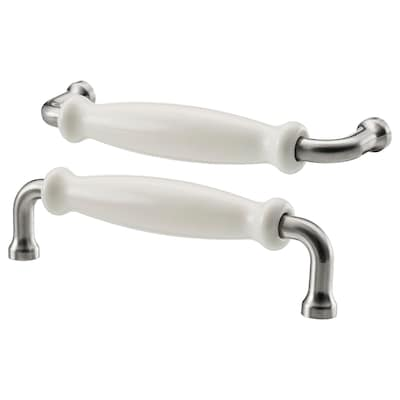 HISHULT Handle, porcelain white, 140 mm