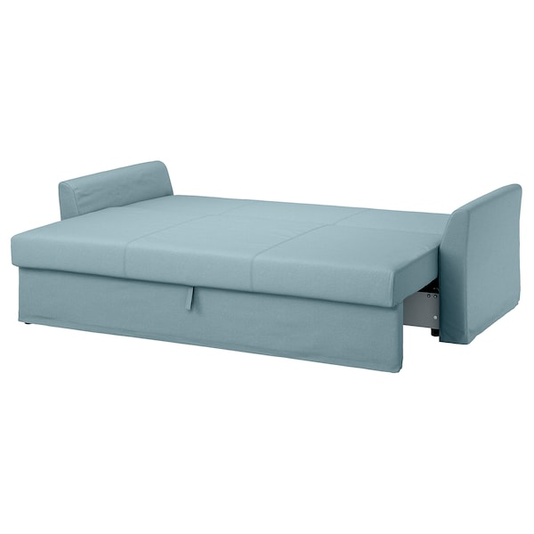HOLMSUND Three-seat sofa-bed, Orrsta light blue