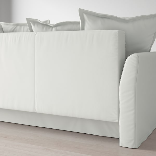 HOLMSUND Three-seat sofa-bed, Orrsta light white-grey