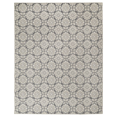 HUNDSLUND Rug flatwoven, in/outdoor, grey/beige, 200x250 cm