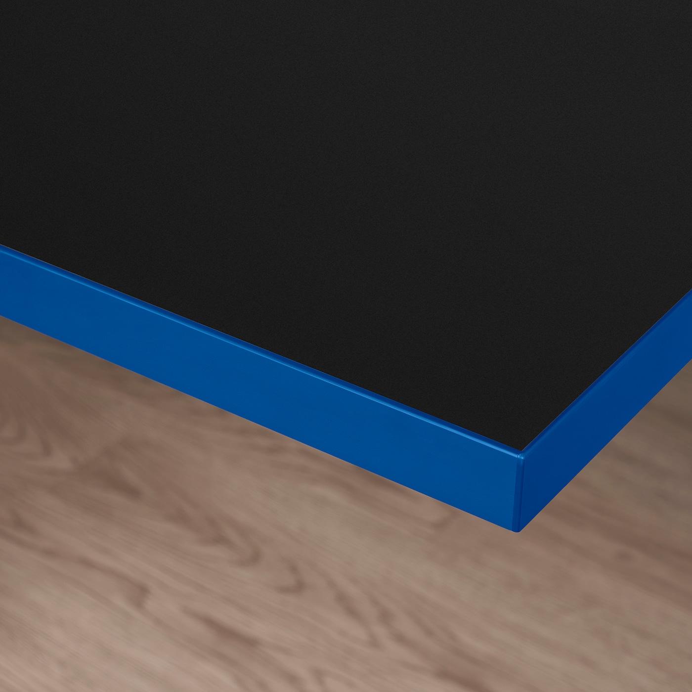 HUVUDSPELARE Table top, black/blue, 120x80 cm
