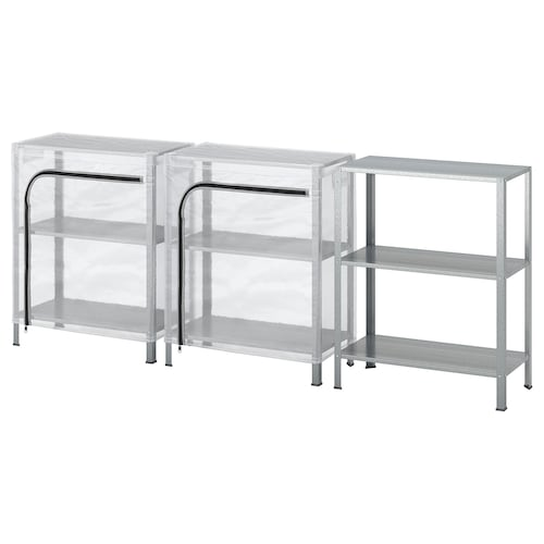 IKEA HYLLIS Shelving units with covers