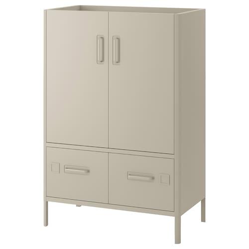 IDÅSEN cabinet with smart lock beige 80 cm 47 cm 119 cm
