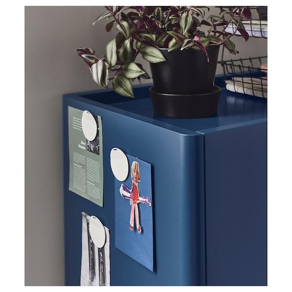 IDÅSEN cabinet with smart lock blue 80 cm 47 cm 119 cm